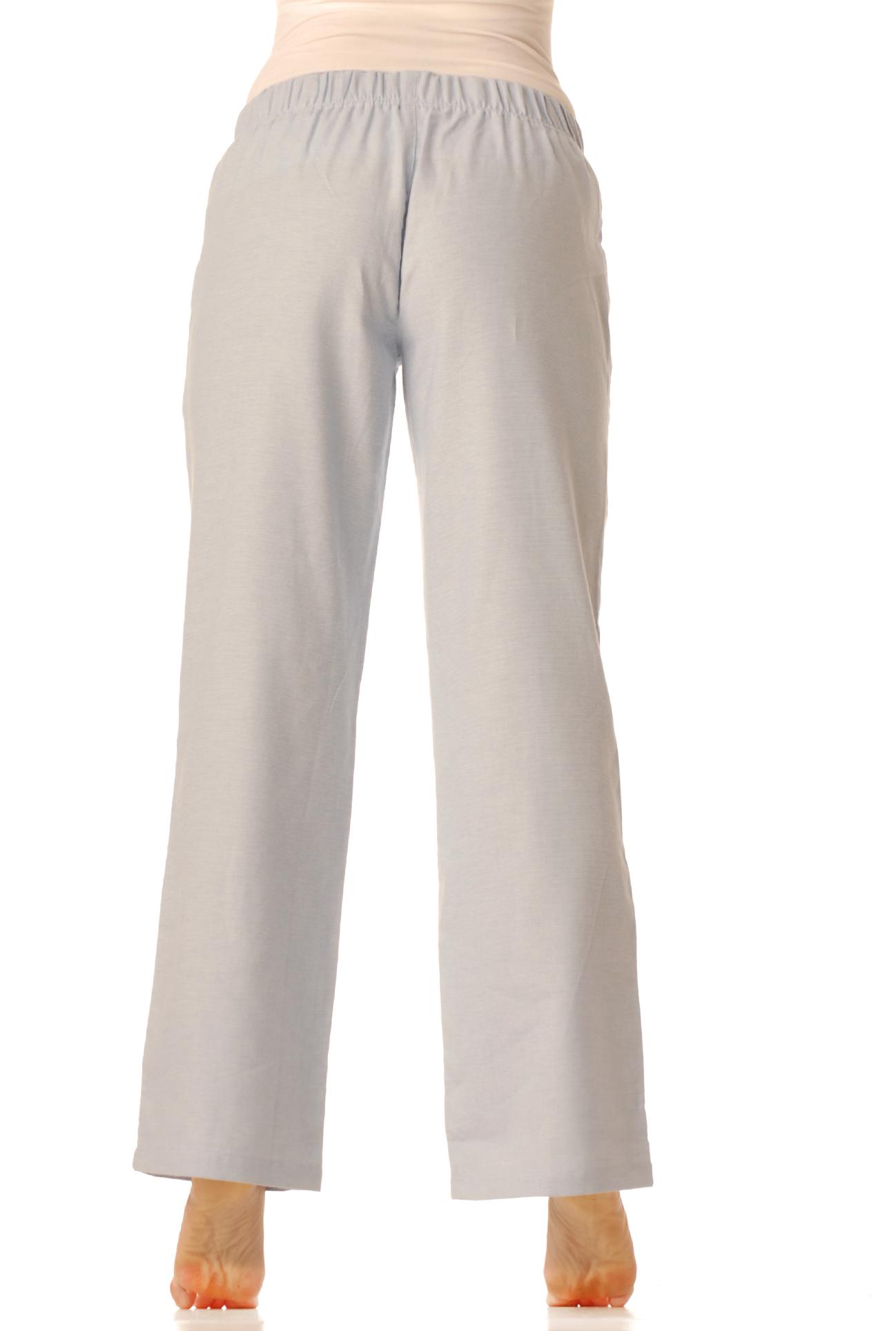 Flanelové pyžamové kalhoty - Modré pepitko